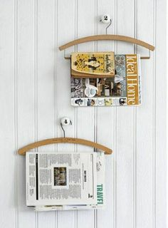 More Clothes Hanger Recycling Ideas Magazine Holders, Interior Exterior, Home Staging, Decorative Objects, Wabi Sabi, Clothes Hanger, Interior Inspiration, Decoration, Repurposed