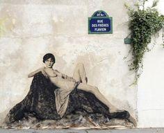 La rue des Frères-Flavien  (Paris 20ème)