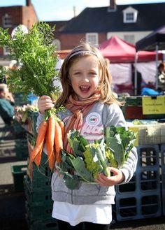 Fresh local produce at Aylsham food festival