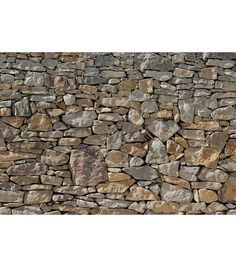 This wall mural rocks. Invite the indoors in with this chic stone mural, creating a photorealistic trompe loueil detail that is large enough to cover an entire wall.  Murals make a bold and beautiful