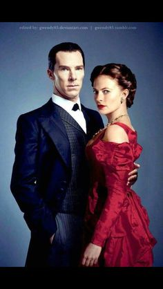 Sherlock Holmes and Irene Adler. I don't know who made this but I love it ♡