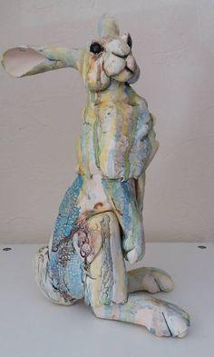 Louise Freeman ceramic hare