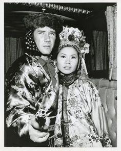 ROBERT-FULLER-LINDA-HO-CHINESE-PRINCESS-WAGON-TRAIN-ORIGINAL-1963-ABC-TV-PHOTO