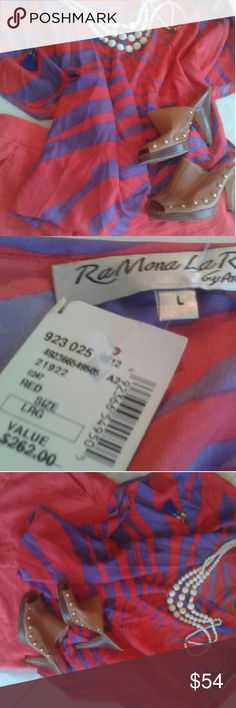 Saks Fifth Ave Top Brand New with Tags So colorful so amazing :) Saks Fifth Avenue Tops Blouses