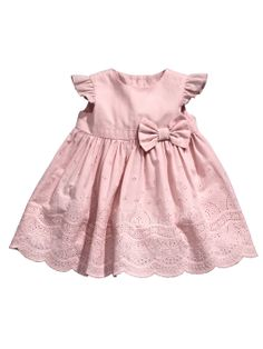 Ladybird Little by Little Pink Broderais Dress and Knickers | woolworths.co.uk