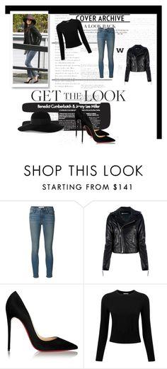 """Get Selena Gomez's look"" by caroowcastillo ❤ liked on Polyvore featuring мода, Frame Denim, Balenciaga, Christian Louboutin, Pure Collection, Eugenia Kim, women's clothing, women's fashion, women и female"