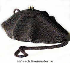 """Вечерняя сумочка """"Шик"""" - женская сумка,бисерная сумочка,вязание с бисером"""