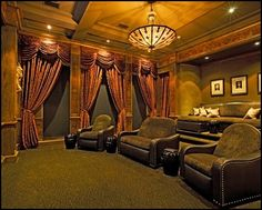 Insane Movie Theather Room ideas!  Very cool stuff! Decorating theme bedrooms - Maries Manor: June 2012
