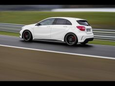 """""""With the new A 45 AMG we have well and truly achieved our aim of developing the most dynamic, powerful and efficient four-cylinder series production car."""" - Tobias Moers, Head of Overall Vehicle Development and Board Member of Mercedes-AMG GmbH. A45 Amg, New Mercedes, Car Logos, Hd Wallpaper, Vehicles, Board Member, Tobias, Background Hd Wallpaper"""