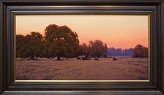 Dawn in the Valley by Kevin Courter Oil ~ 18 x 36