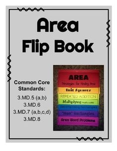 This fun flip book helps students visualize and practice the various ways you can calculate area.Common Core Standards: 3.MD.C.5.A,  3.MD.C.5.B,  3.MD.C.6,  3.MD.C.7.A,  3.MD.7.B,  3.MD.7.C,  3.MD.C.7.D, and 3.MD.D.8Tip:  Print each page on a different colored paper for a fun finished product!!!This product goes perfectly with the perimeter foldable found at https://www.teacherspayteachers.com/Product/Perimeter-Foldable-1684346Additional practice available…