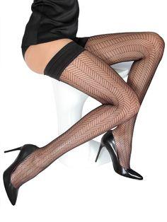 Spring Autumn Women Pantyhose Striped Stocking Crossed Bundled Silk Stockings Cv