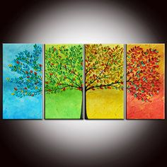 I love the idea of taking a tree through a different canvas for each season.....