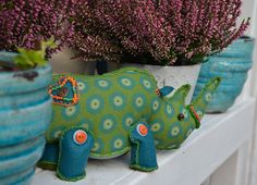 Handmade Rhino treasures, individually created from hand selected materials and ready to be your new friend.