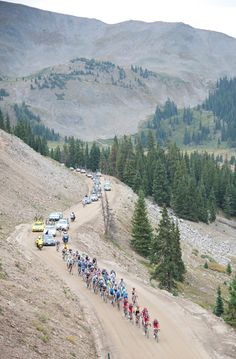 2012 USA Pro Challenge, stage 3 - chase  The remnants of the chase near the summit. Photo: Casey B. Gibson | www.cbgphoto.com