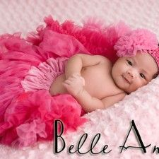 Lipstick Pink w/ Raspberry Dots Newborn Pettiskirt