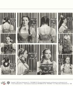 Judy Garland, Wizard of Oz -- April 29, 1938 initial hair and makeup tests done by Max Factor