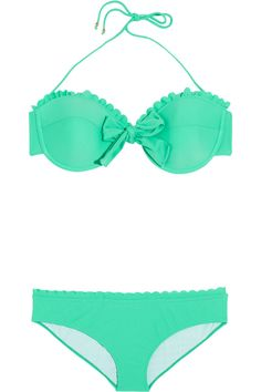 Would look pretty cute with a nice tan --Miu Miu Mint Bikini