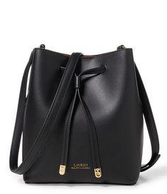af00197829 Black Crimson Lauren Ralph Lauren Debby II Mini Drawstring Bag Leather  Drawstring Bags