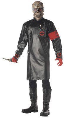 Scary Halloween Costume Men Adult Monster Dr Illheart Doctor Killer w Mask | #eBay #Halloween