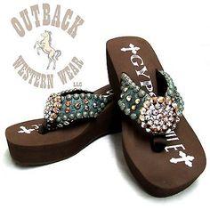 cb2077c26 Gypsy Soule Women s Cassie Chocolate Heel Embellished Flip Flops CH-Cassie