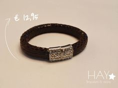 Armband met bijzonder slot | Bruin
