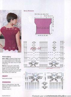 Crochetemoda: Blusa de Crochet Vinho