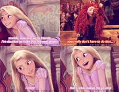 Rapunzel + Merida + Popular = Wicked!  This is FABULOUS (: