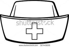 free nurse clip art nurses cap images graphics comments and rh pinterest com  nurse hat clip art black and white