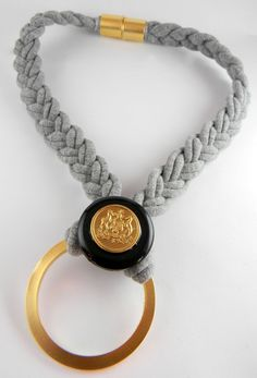 Braided necklace by Mipola https://www.etsy.com/shop/mipola?ref=si_shop