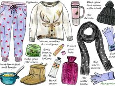 This week's illustrated how-to is about how to survive the cold winter days. Here are some ways to stay warm and still look cute. Have a good week!