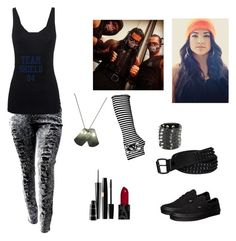 """Alia & The Shield"" by goldenthorn ❤ liked on Polyvore featuring Vans, Juvia, Gucci and MAC Cosmetics"