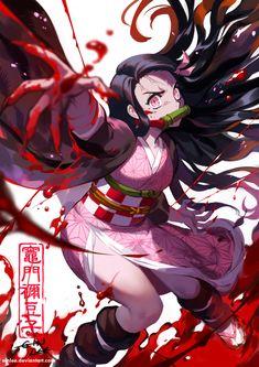 Blood by einlee on DeviantArt, blood buckets demon slayer yaiba kamado nezuko baketsu no art kimetsu Demon Slayer, Slayer Anime, Yandere Manga, Blood Anime, Demon Baby, Blood Art, Cute Anime Wallpaper, Animes Wallpapers, Anime Demon