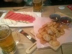 동네호프집 - 수박한접시 & 감자튀김