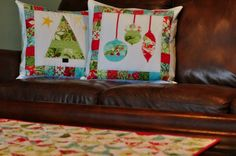 I had some leftover fabric after making the stockings  and tree skirt , so I decided to make a few other Christmas decorations.  But since w...