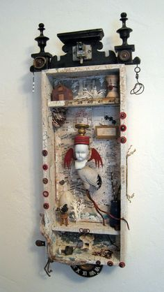 ⌼ Artistic Assemblages ⌼ Mixed Media & Collage Art - shadow box -