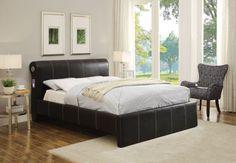 ACME Israel Queen Bed Black PU - 25250Q