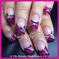 Gel nails.... Facebook.com/thebeautyshop93280