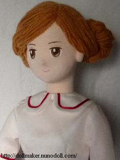 Doll with wool hair