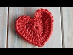 How to Crochet a Heart - YouTube. ❤CQ crochet hearts valentines