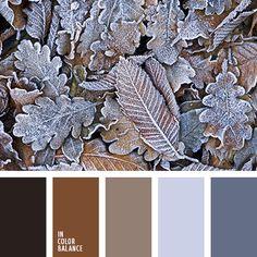 контрастное сочетание теплых и холодных тонов, коричневый и черный, оттенки коричневого, оттенки оранжевого и коричневого, оттенки серо-синего цвета, оттенки сине-серого цвета, палитры для дизайнеров, рыже-коричневый цвет, темно-рыжий цвет.