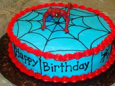Spiderman Birthday Cake                                                  My Grandson LOVES spiderman...pinning this for his next birthday.