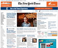 Todd Barry on The New York Times website. He's famous, but he still does not have his own show.
