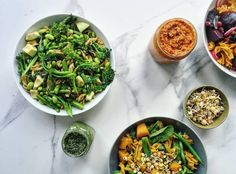 """Happy Balance Bowl Pasta Recipe- """"This recipe is super simple and packed with hormone balancing ingredients. It includes a walnut and kale pesto, which I love because it has a more complex and fantastic toasted flavour. It's a perfect option for cold winter days or add a little lemon for a flawless summer favourite."""""""