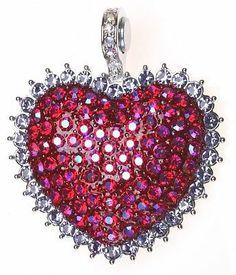 KIRKS FOLLY SPARKLING PUFFED HEART MAGNETIC ENHANCER silvertone