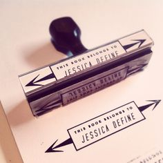 BOOKPLATE // Custom Rubber Stamp by thefutureprimitive on Etsy, $20.00