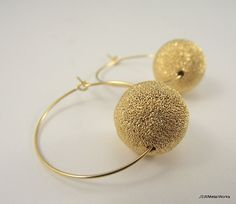 Large Gold Sunburst Hoop Earrings Gold Earrings by JSWMetalWorks
