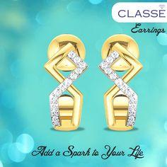 Gold Diamond Earrings, Diamond Jewellery, Gold Ring, Wedding Jewelry, Fashion Jewelry, Jewels, Life, Collection, Diamond Jewelry