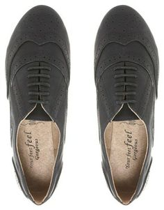 Image 4 ofNew Look Wide Fit Jackal Brogue Shoes