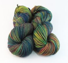 Hand Dyed Yarn Merino Fingering Sock Colorful by FiberFangirl, $21.50